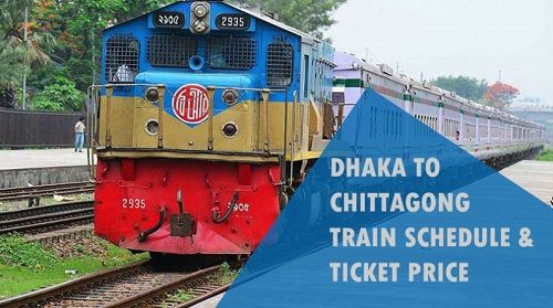 Chittagong to Dhaka Train Schedule with price