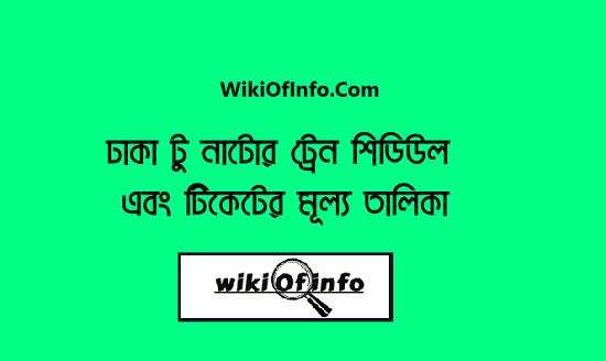 Dhaka to Natore Train Schedule