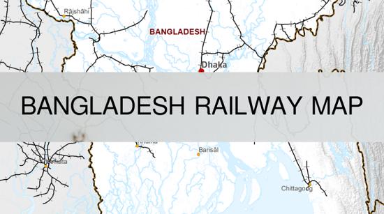Bangladesh Railway Route Map