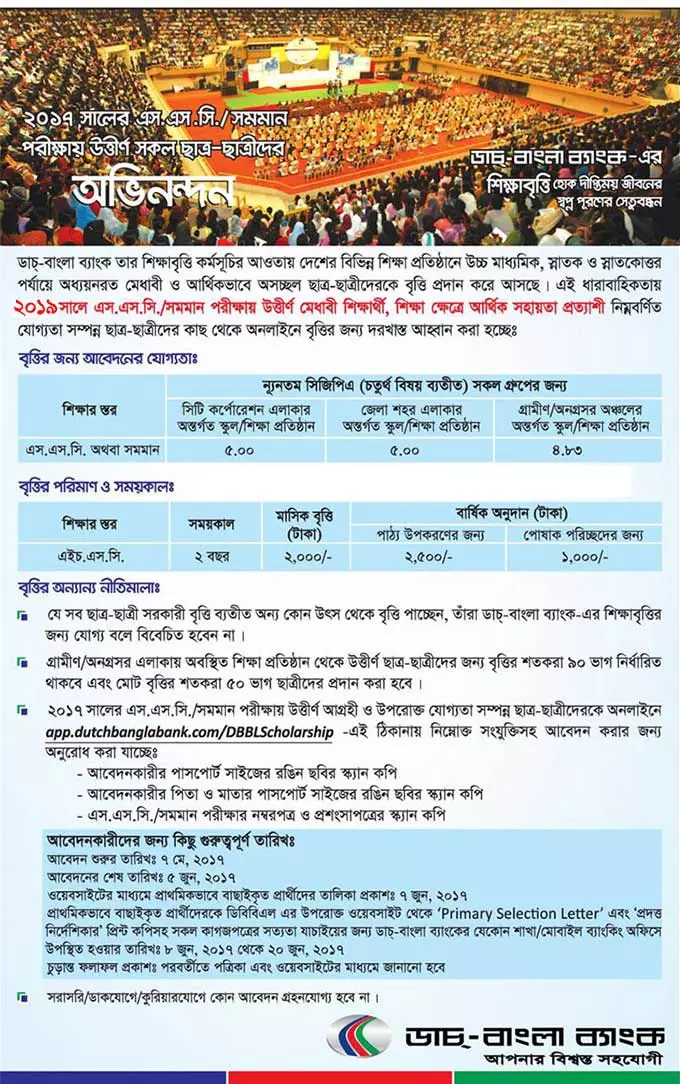 Dutch Bangla Bank SSC Scholarship 2020