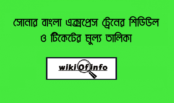 Shonar Bangla Express train schedule