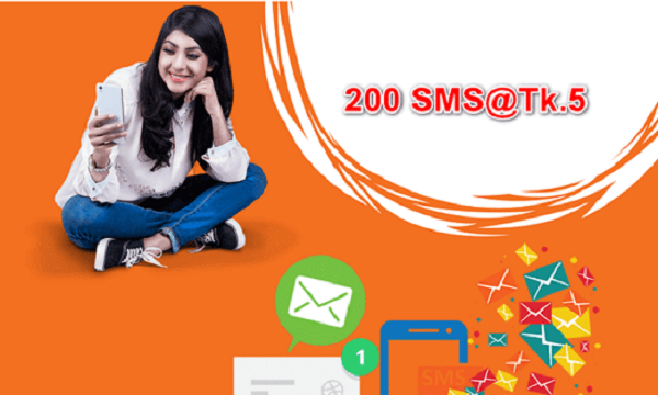 Banglalink 200 SMS Pack Offer 5 Taka