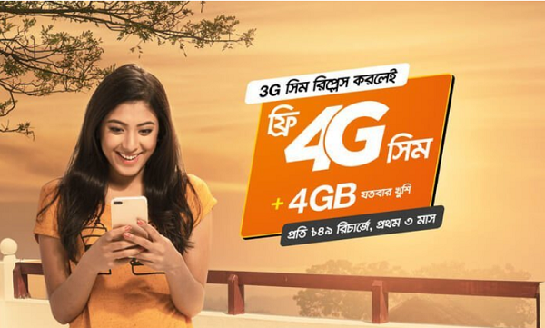 Banglalink 4G SIM Free Replacement Offer