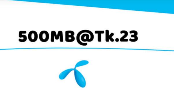 GP 500 MB 23 Taka Offer
