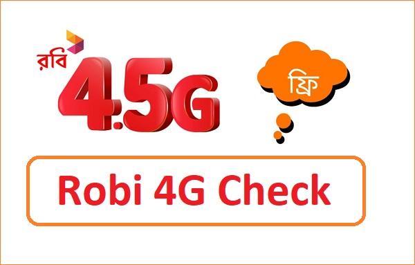 Robi 4G Check