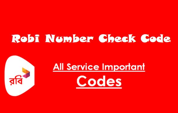 Robi Number Check Code BD