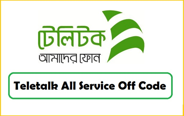Teletalk All Service Off Code