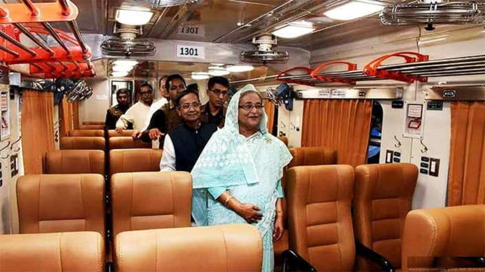 Our Prime Minister Sheikh Hasina inspects Sonar Bangla Express