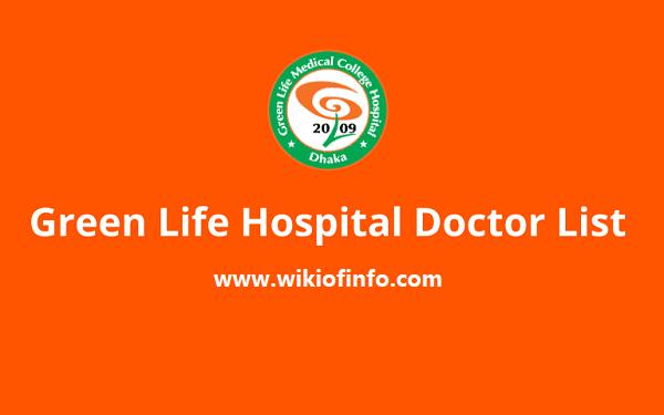 green life hospital doctor list 2021